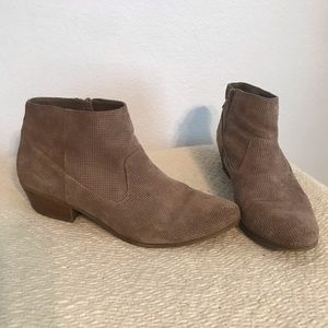 Steve Madden Ankle Booties Purf Tan Suede 8